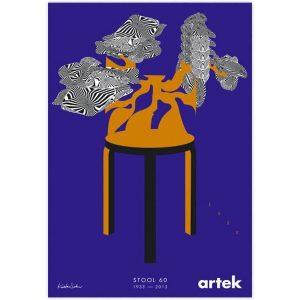Artek 80 Years Stool 60 poster