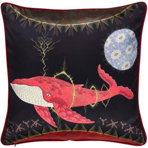 Klaus Haapaniemi Cosmic Whale with Lilac Planet cushion cover