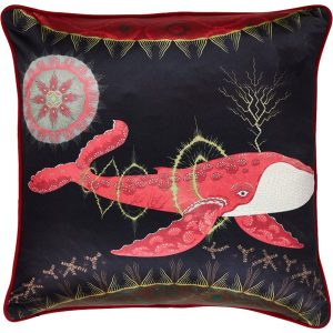 Klaus Haapaniemi Cosmic Whale with Red Planet cushion cover