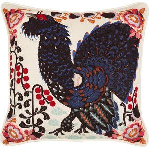 Klaus Haapaniemi Grouse in the woods cushion cover