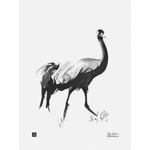 Teemu Järvi Illustrations Common Crane poster