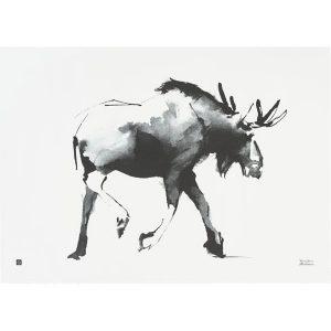 Teemu Järvi Illustrations Elk poster