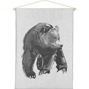 Teemu Järvi Illustrations Gentle Bear art textile