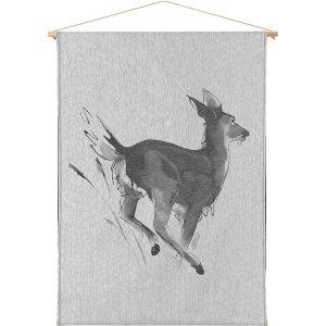 Teemu Järvi Illustrations White-Tailed Deer art textile