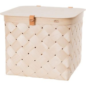 Verso Design Lastu basket with lid