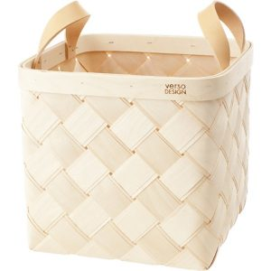 Verso Design Lastu birch basket M