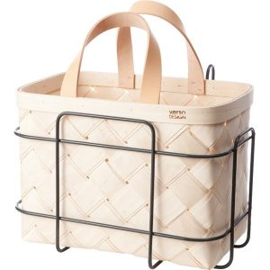 Verso Design Lastu birch basket for bicycle